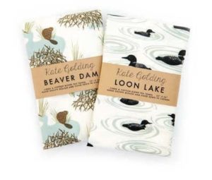 Kate Golding Pattern Designer - Loon and Beaver napkins