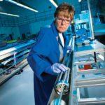 Cameco technician Brenda Sinclair assembles a cobalt adjuster set