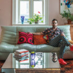 Alex Fida at home in his living room